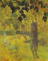 Man Picking Fruit from a Tree, 1897, gauguin