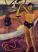 A man with axe, 1891, gauguin
