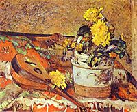 Mandolina and Flowers, 1883, gauguin