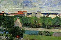 The market gardens of Vaugirard, 1879, gauguin
