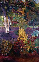 Marquesan landscape with horses, 1901, gauguin