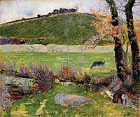 Meadow at the banks of Aven, 1888, gauguin