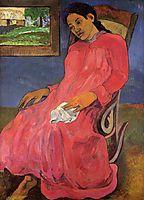 Melancholic, 1891, gauguin