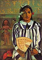 No Merahi Metua Tehaamana (Tehaamana has many parents), 1893, gauguin
