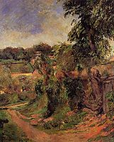 Near Rouen, 1884, gauguin