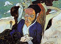 Nirvana, Portrait of Jacob Meyer de Haan, 1890, gauguin