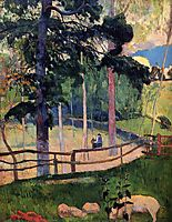 Nostalgic Promenade, 1889, gauguin