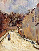 Osny, rue de Pontoise, Winter, 1883, gauguin