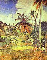 Palm trees on Martinique, 1887, gauguin