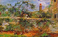 Party wall, 1881, gauguin