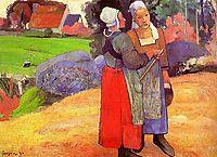 Paysannes bretones, 1894, gauguin