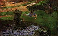 Pond with Ducks (Girl Amusing Herself), 1881, gauguin