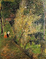 Pont-Aven woman and child, 1886, gauguin