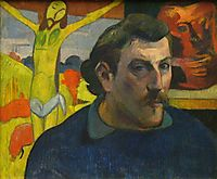 Portrait of the Artist with the Yellow Christ, 1889, gauguin