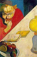 Portrait of Meyer de Haan by Lamplight, 1889, gauguin