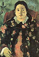 Portrait of Suzanne Bambridge, 1891, gauguin
