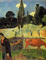 The red cow, 1889, gauguin