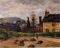 Returning from the harvest (Manuring), 1884, gauguin