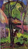 The rider in front of the hub, 1892, gauguin