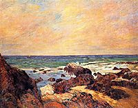 Rocks and sea, 1886, gauguin