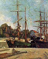 Schooner and three masters, 1886, gauguin