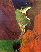 Seascape with cow on the edge of a cliff, 1888, gauguin
