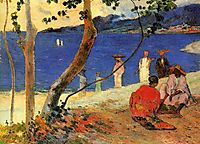 A seashore, 1887, gauguin