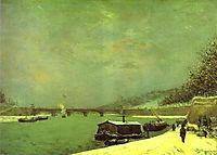The Seine at the Pont d-Iena, 1875, gauguin