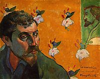 Self-Portrait Dedicated to Vincent van Gogh (Les Misérables) , 1888, gauguin