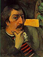 Self Portrait with the Idol, c.1893, gauguin