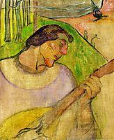 Self portrait with mandolin, 1889, gauguin