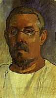 Self portrait with spectacles, 1903, gauguin