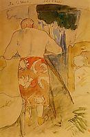 Self portrait, at work, c.1893, gauguin