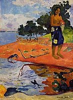 She goes down to the fresh water (Haere Pape), 1892, gauguin