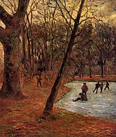 Skaters in Fredericksberg park, 1884, gauguin