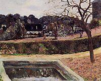 The square pond, 1884, gauguin