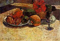 Still life with mangoes and hibiscus, gauguin