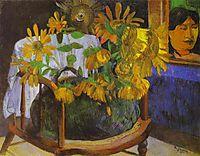 Still Life with Sunflowers on an armchair, gauguin