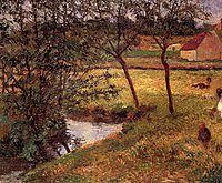 Stream in Osny, 1883, gauguin