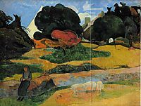 The swineherd, 1889, gauguin