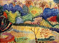 Tahitian landscape, 1897, gauguin