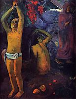 Tahitian Man with His Arms Raised, gauguin