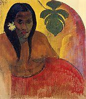 Tahitian Woman, 1894, gauguin