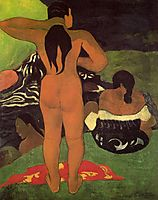 Tahitian women on the beach, 1892, gauguin