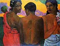 Three Tahitians, 1899, gauguin