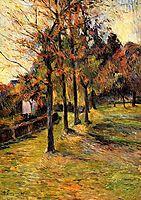 Tree linen road, Rouen, 1885, gauguin