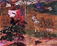 Tropical Conversation, gauguin