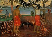 Under the Pandanus, 1891, gauguin
