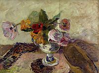 Vase of flowers, 1886, gauguin