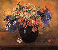 Vase of flowers, 1896, gauguin